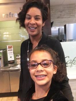 Kiana Webb and daughter Sanai.
