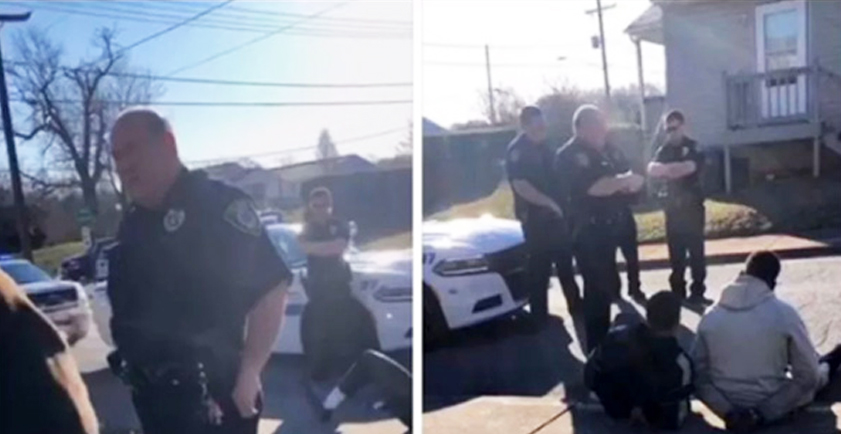 Police handcuff college students