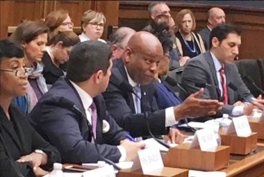 NAREB President/CEO Jeff Hicks answers questions from members of Congress. PHOTO: Hazel Trice Edney