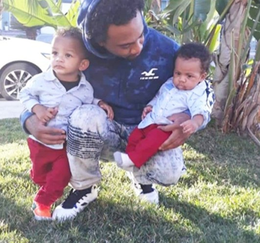 Darrell Allen and his 2 youngest boys