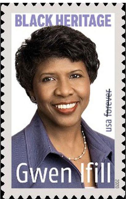 Gwen Ifil stamp photo