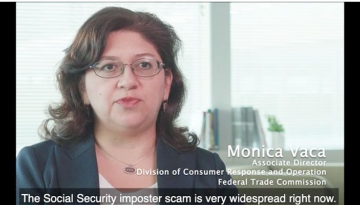 Monica Vaca, associate director of the Federal Trade Commission's Consumer Sentinel Network, seen in one of many informative videos the agency posts at https://www.FTC.gov (https://www.ftc.gov/news-events/audio-video), warning of how various illegal scams in the United States cost victims almost $2 billion in 2019 and of steps people should take to avoid them.Image courtesy of the Federal Trade Commission