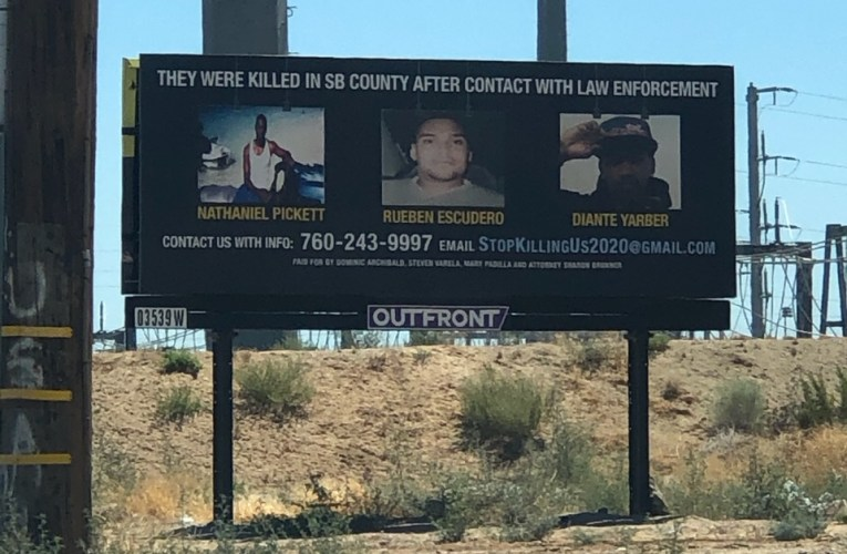 Two Billboards with a strong message spotted in San Bernardino County