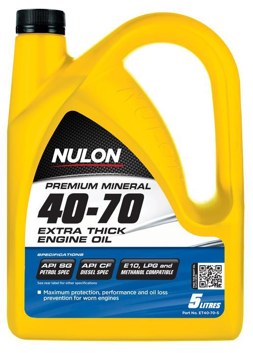 Nulon Premium Mineral Oil Extra Thick 40W70 5L | Sparesbox