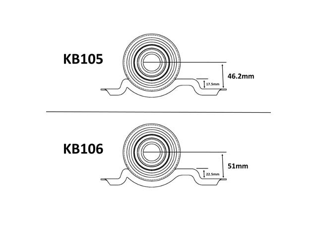 Kelpro Center Bearing KB106 fits Holden Commodore VX VU VY