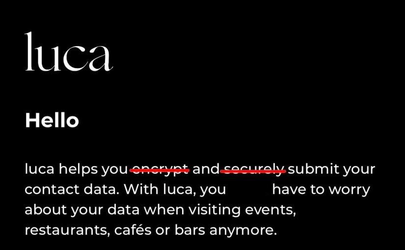 offener Brief: Nutzung der Luca App bedenklich