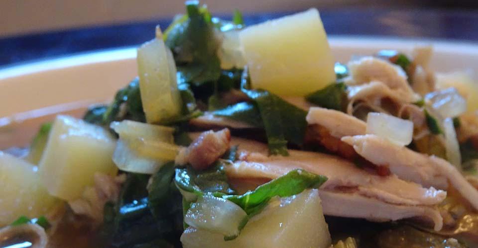 Chard, Chicken & Potato Soup -Feature Image