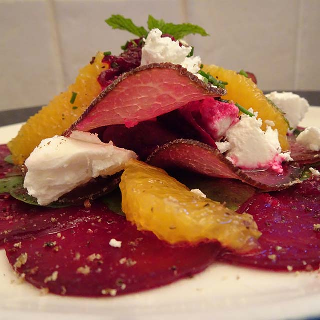 Bresaola, Beetroot, Orange and Goats Cheese Salad