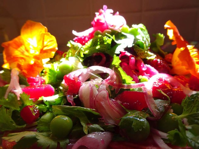 Beetroot, pea and fresh herb salad - 2