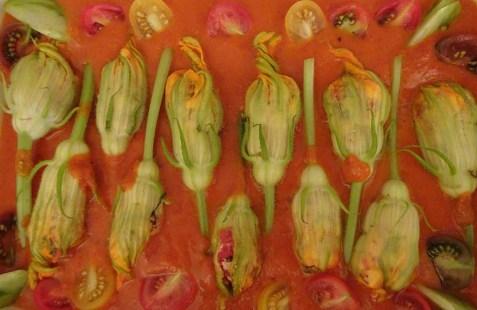 Mozarella Stuffed Zucchini Flowers - 4