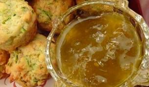 Green Tomato Jam with Gluten Free Mini Zucchini and Chevre Muffins
