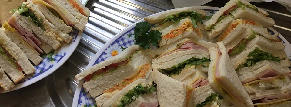 Platters of sandwiches-r