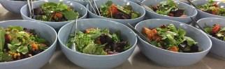Roasted Pumpkin & Beet Salad with Spinach & Fresh Herbs