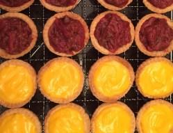 Lemon Curd and Rhubarb & Orange Tarts