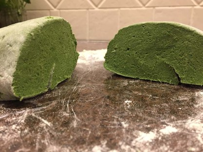 Homemade nettle pasta dough - gluten free
