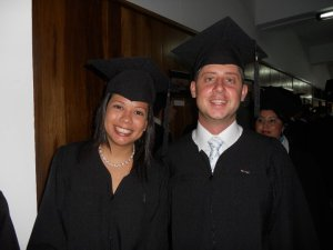 Anthony and Gaby Privetera's graduation at INCAE Business School in Costa Rica.