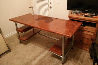 100 DIY Pipe Desk Plans Pipe Table Ideas and Inspiration