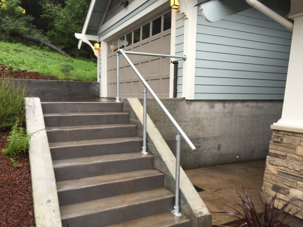 14 Exterior Handrail Ideas Simplified Building | Garden Handrails For Steps | Modern Hand | Wooden | Free Standing | Solid Wood | Stair Railing