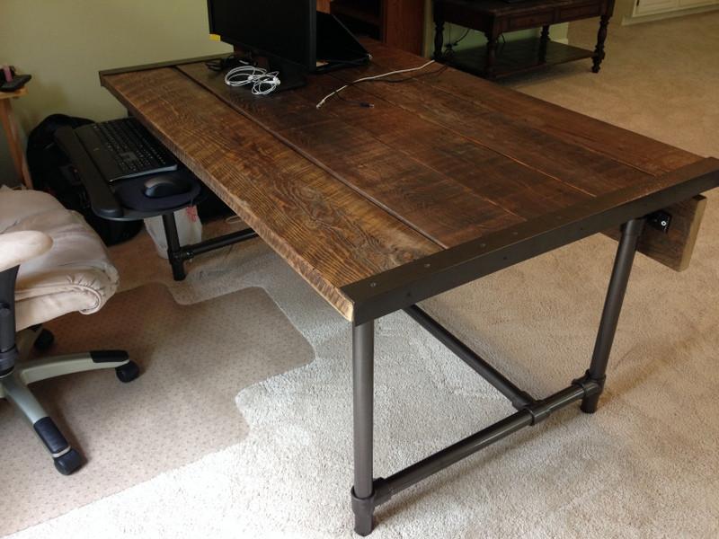Easy to Build Barn Wood Desk Desk Week  Simplified Building