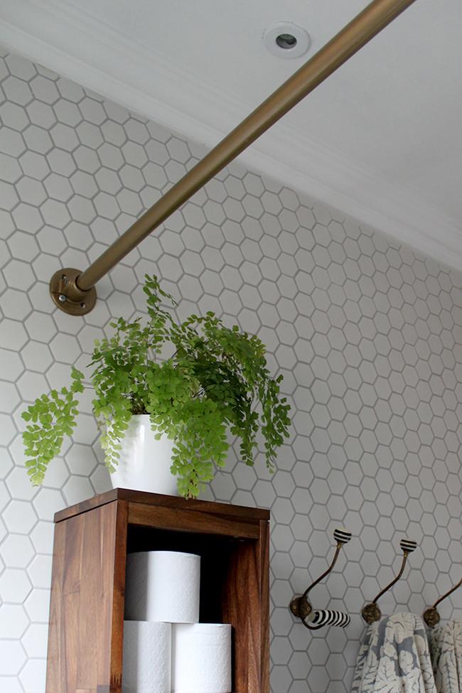 shower curtain rod pipe furniture
