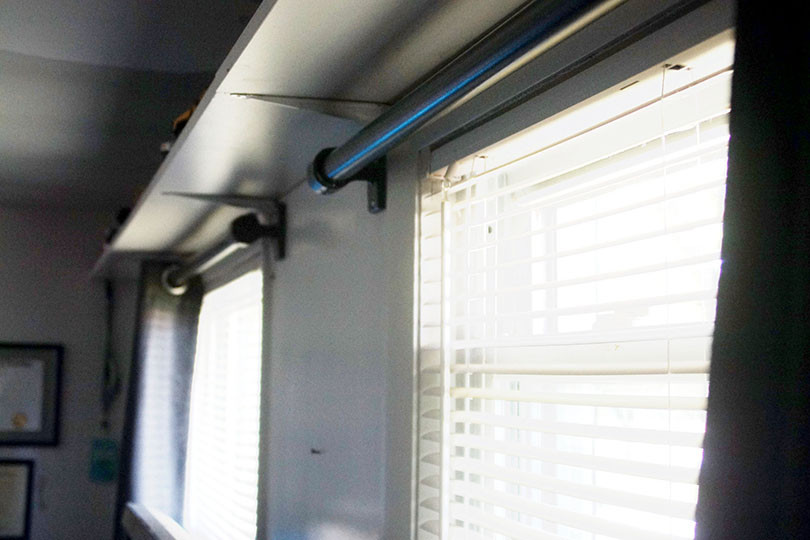 build industrial style curtain rods