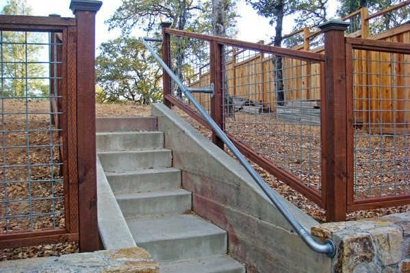 15 Customer Railing Examples For Concrete Steps Simplified Building | Wood Deck Over Concrete Steps | Extension | Front | Back Deck | Cover Concrete | Solid Deck