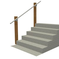 Wall 570 - Wall Mounted Stair Railing, Easy Install ...