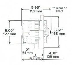 Sbc Bbc Cs-130 Style Chrome 110 Amp 1 Wire Alternator