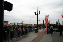 Crowd awaiting speeches