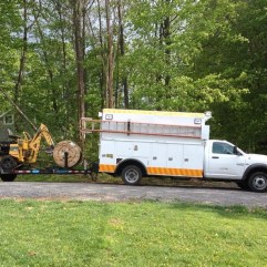 service truck and plow