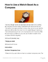 Compass 3 – How to Use a Watch Bezel As a Compass – Know About Life