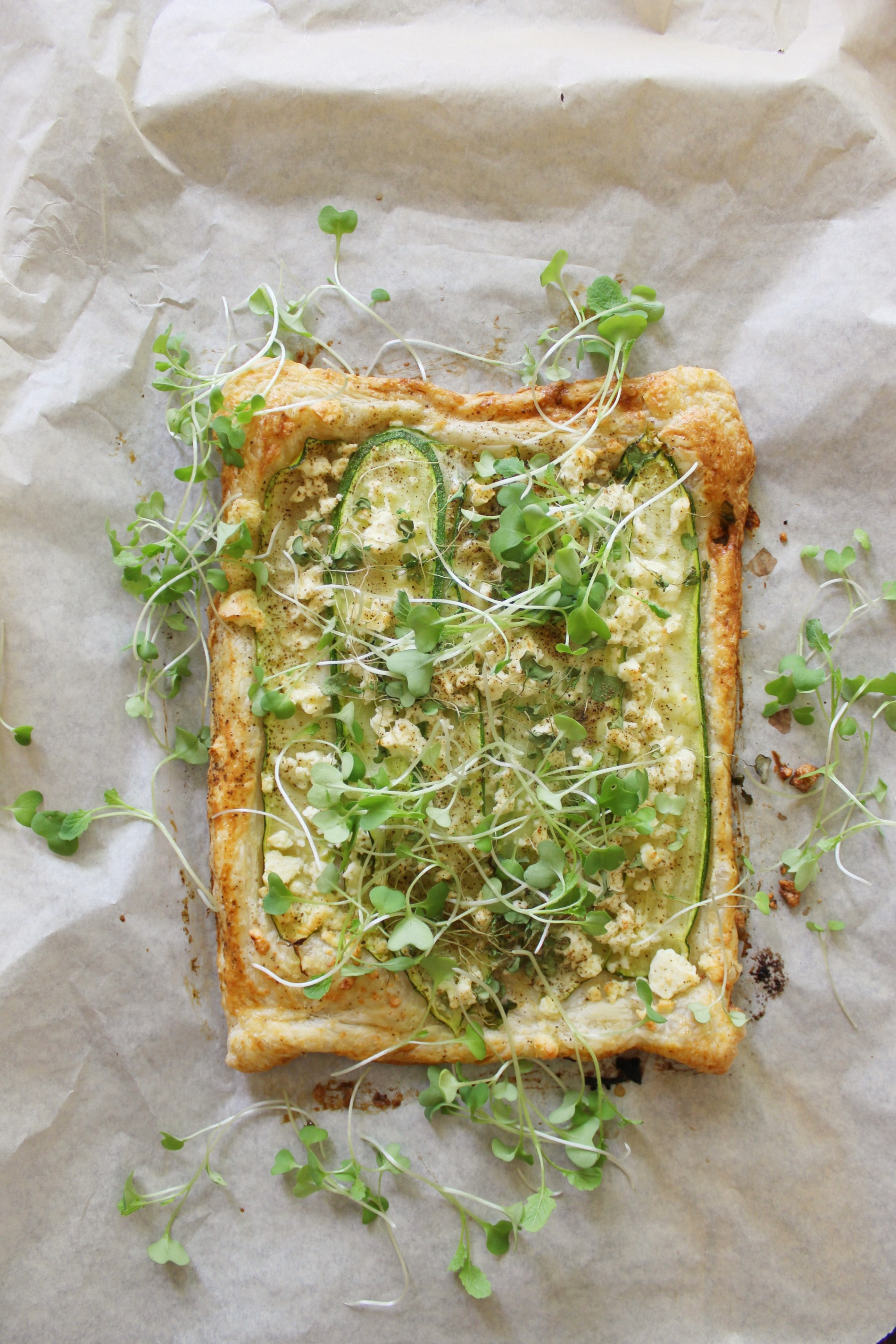 zucchini feta tart