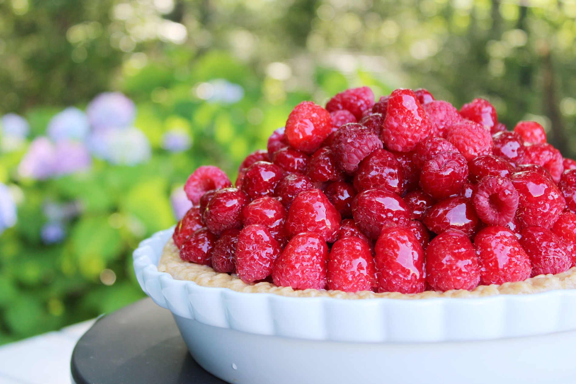 Mile High Raspberry Sour Cream Pie