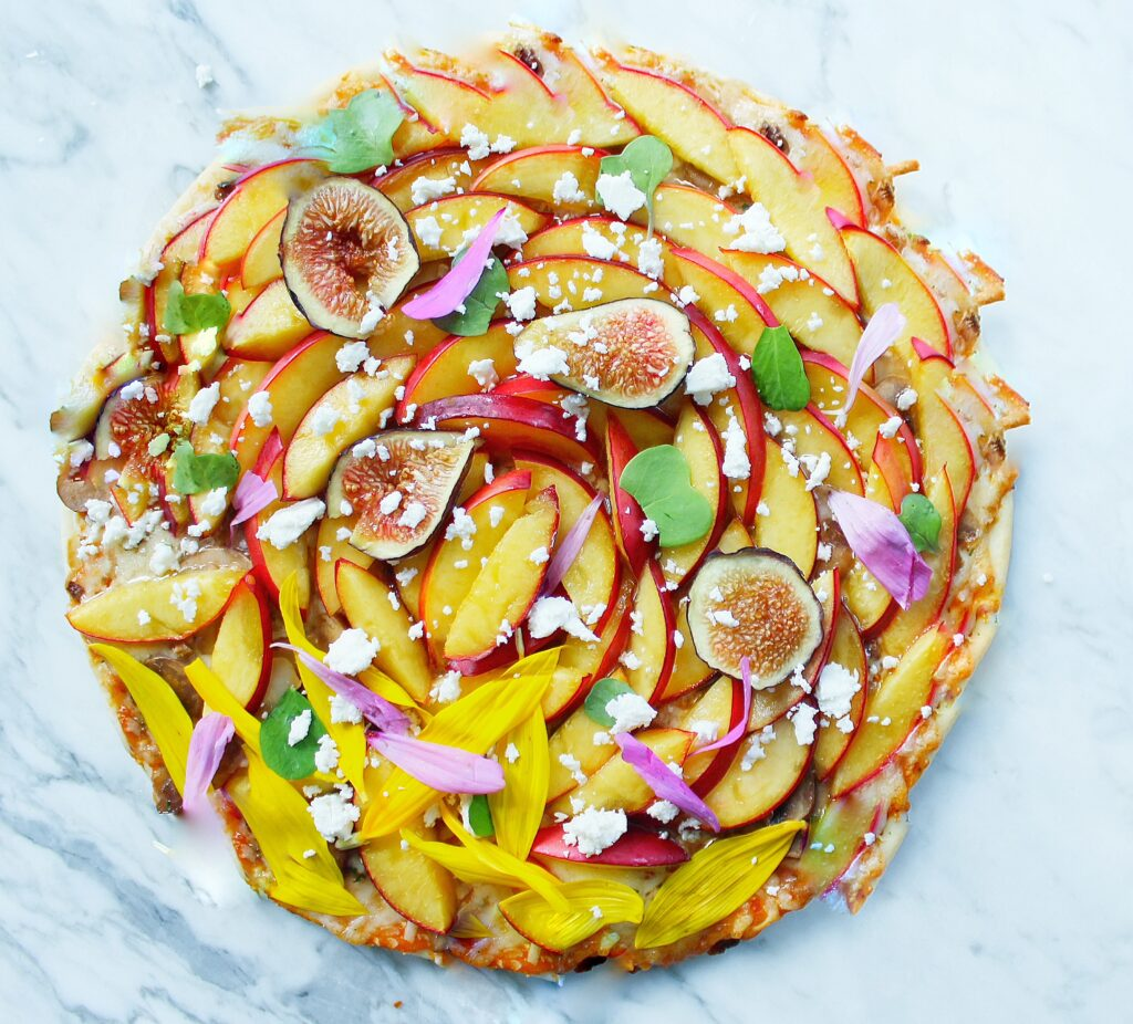 Pizza with Nectarine & Figs