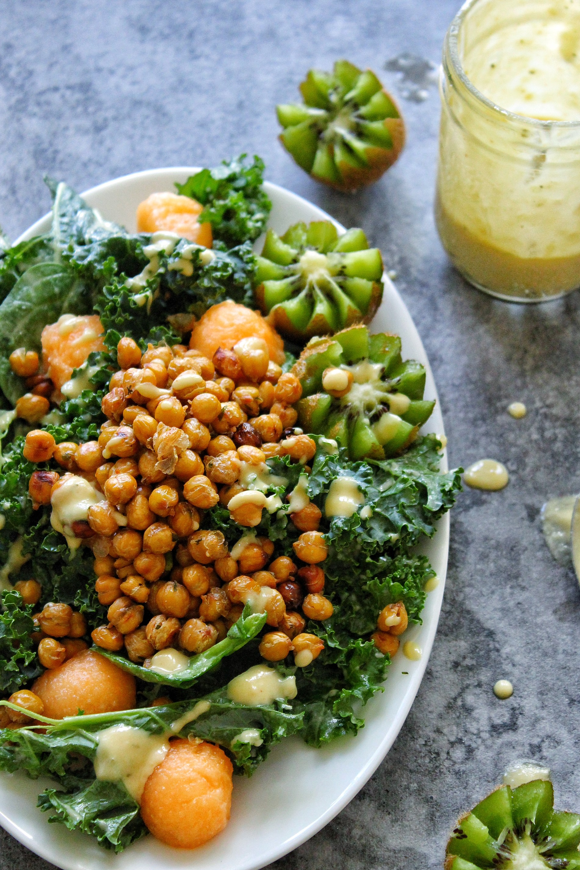 kale and spinach salad