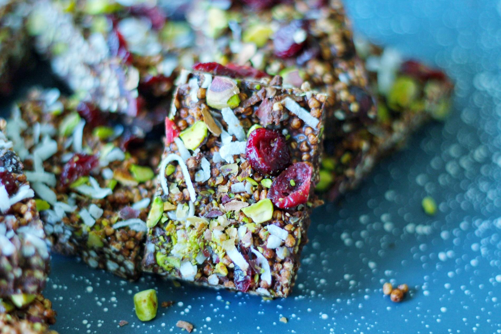 vegan fruit and nut bars