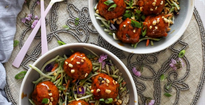 Spicy Orange Salmon Vegetable Meatballs