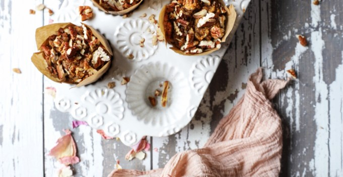 Maple Banana Pecan Crunch Muffins