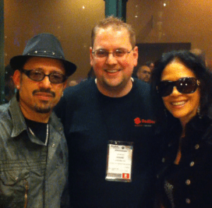 Me with Sheila E and her brother, Juan Escovedo