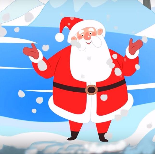 Толстый Санта Клаус