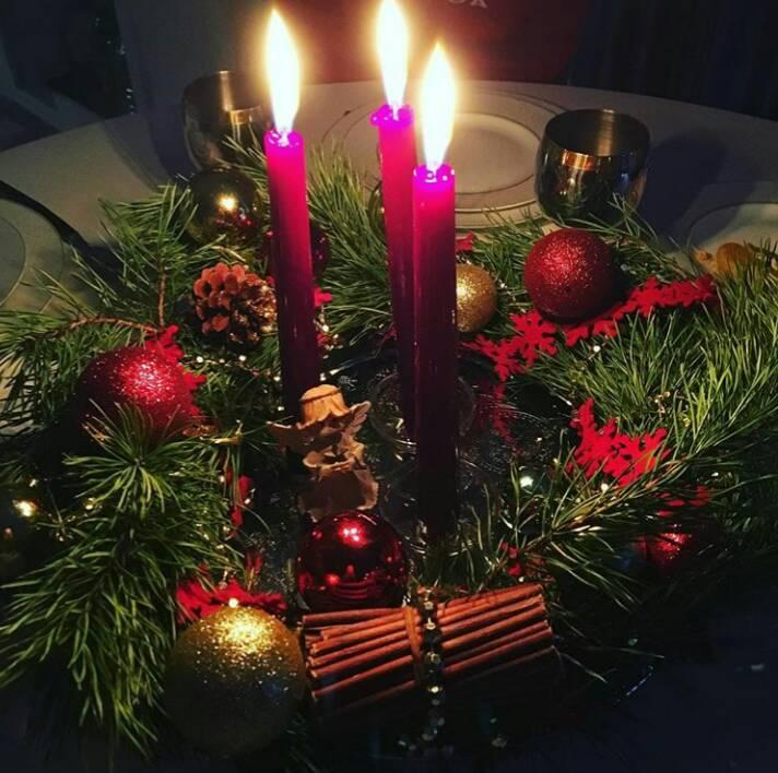 Свечи в новогодний праздник