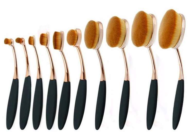 Oval Makeup Brush Set-2