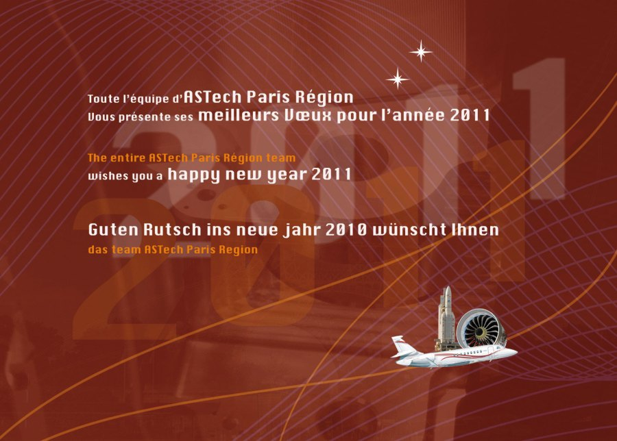 verso carte de vœux 2011 pour pole ASTech