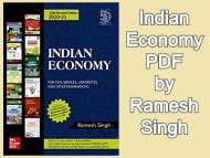 Indian Economy PDF by Ramesh Singh