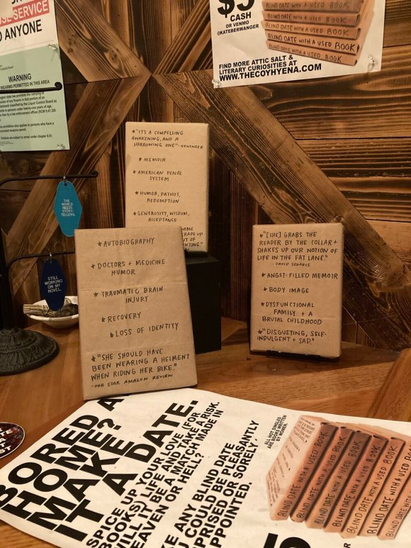 Kate Berwanger's Blind Date with a Used Book, Corvus and Company, Capitol Hill, July 2020.