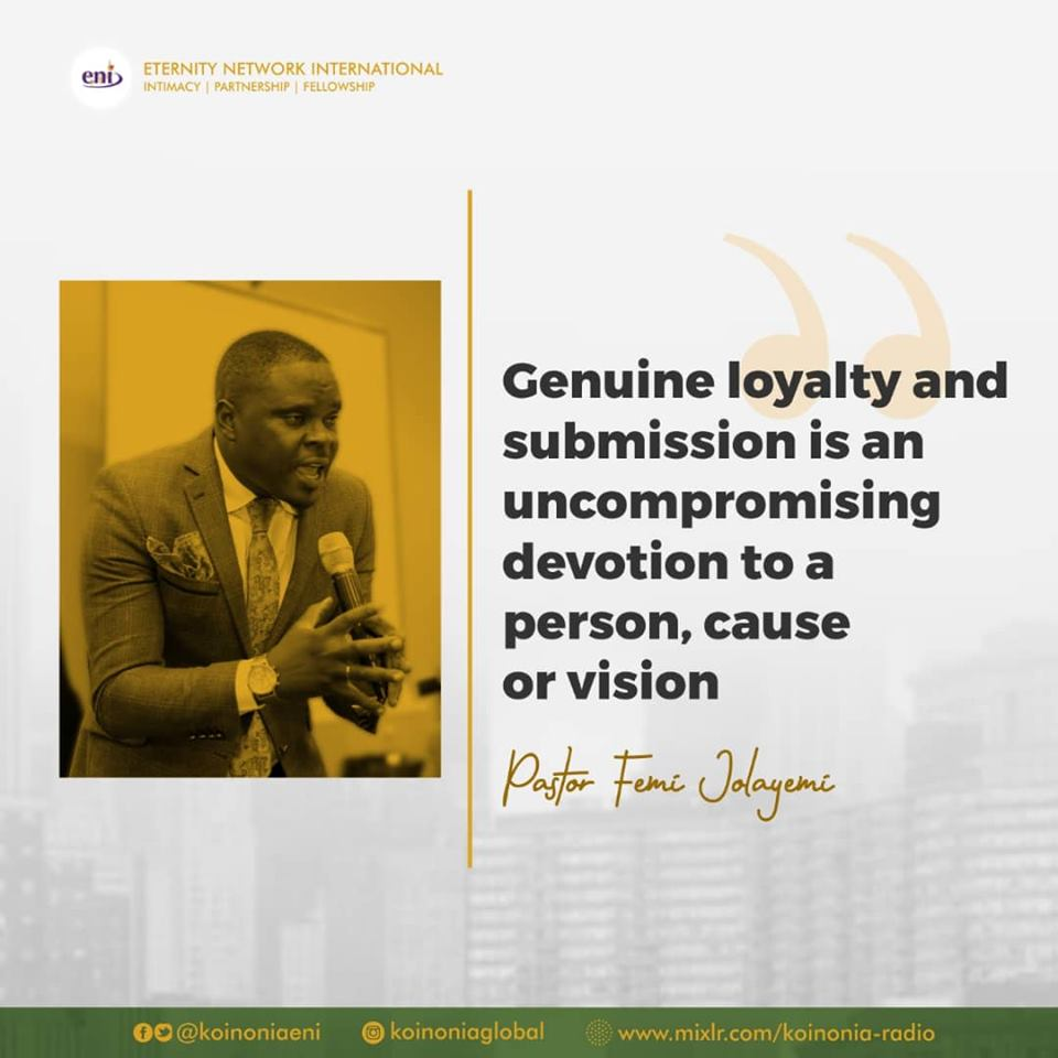 The Lifting Power of Genuine Loyalty and Submission Koinonia