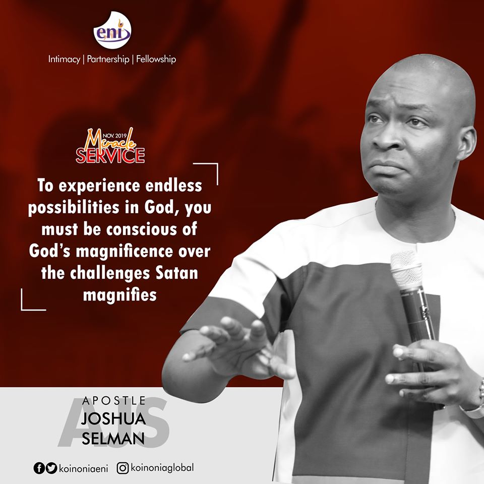 November 2019 Miracle Service Koinonia with Apostle Joshua Selman Nimmak