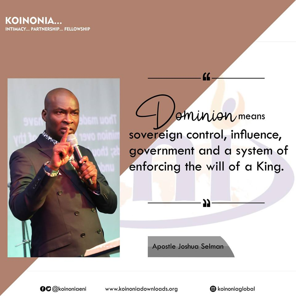 First Koinonia Message For 2020 || Dominion with Apostle Joshua Selman Nimmak