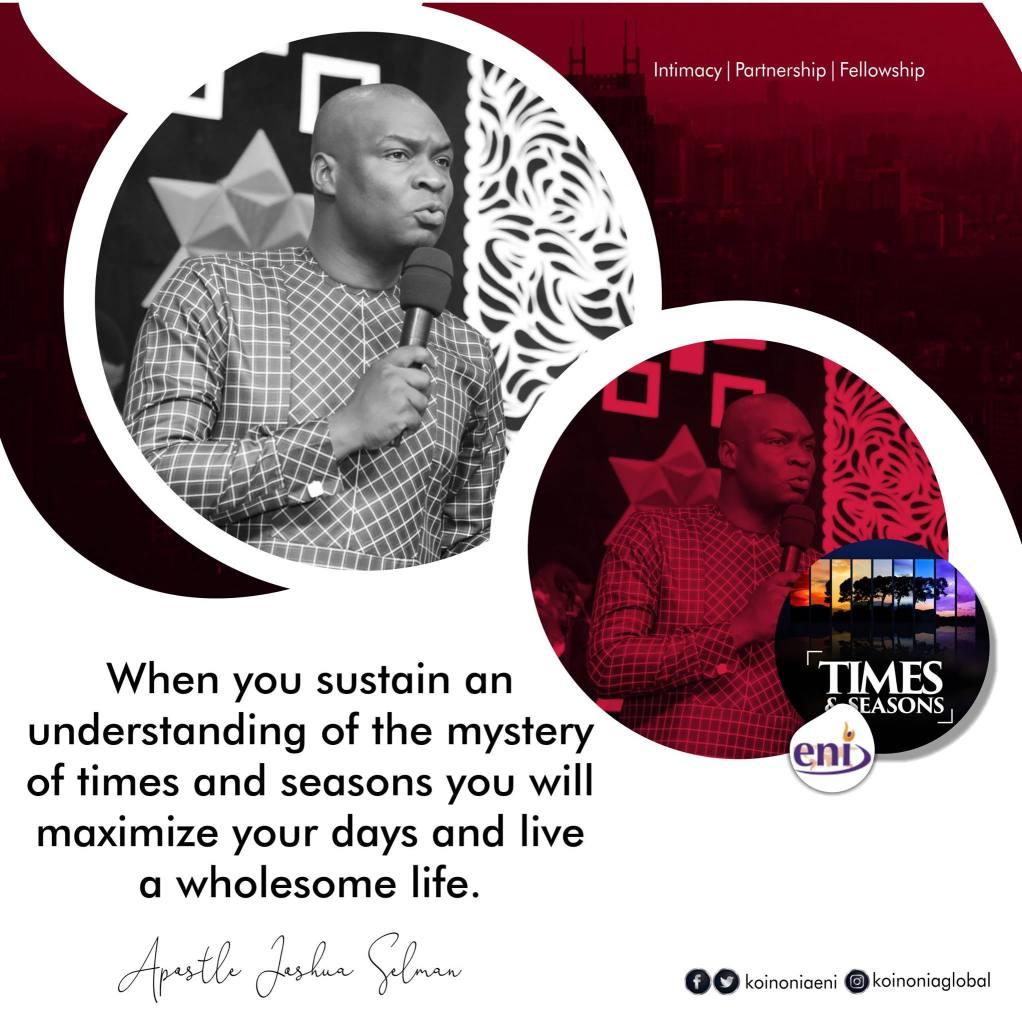 Times And Seasons Koinonia with Apostle Joshua Selman Nimmak | 12th March 2021