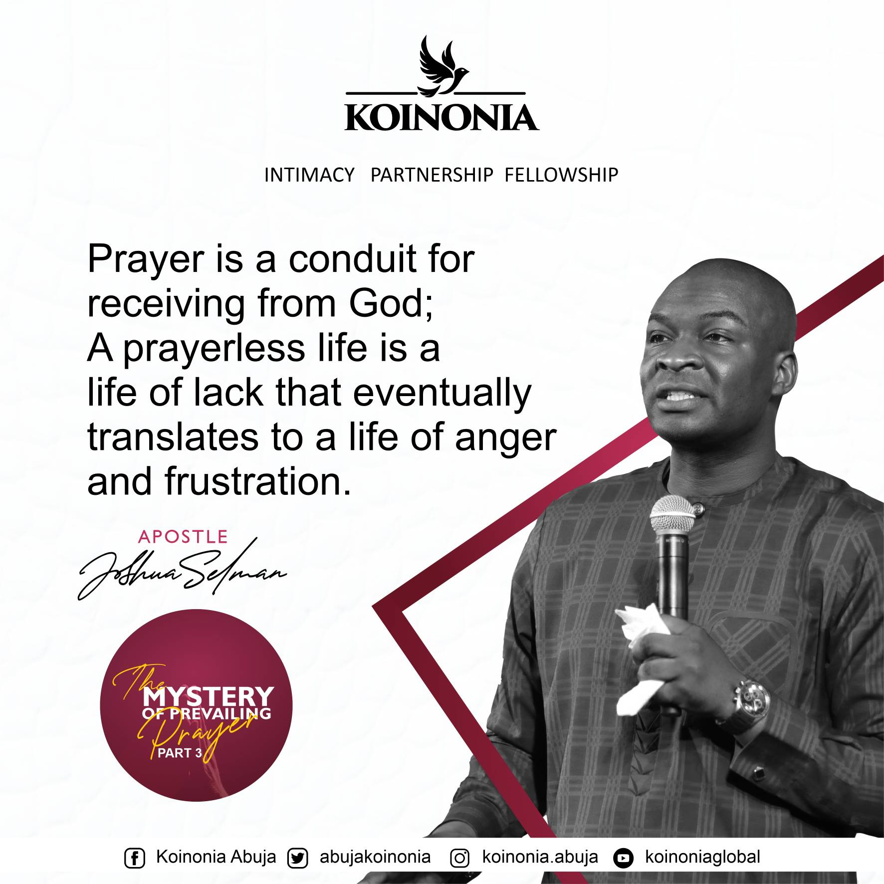 Download The Mystery of Prevailing Prayer Part Three Koinonia Abuja with Apostle Joshua Selman